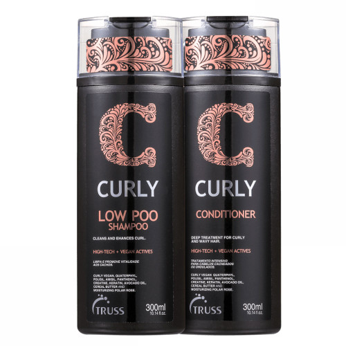 Truss Curly Low Poo Duo Kit Shampoo and Conditioner