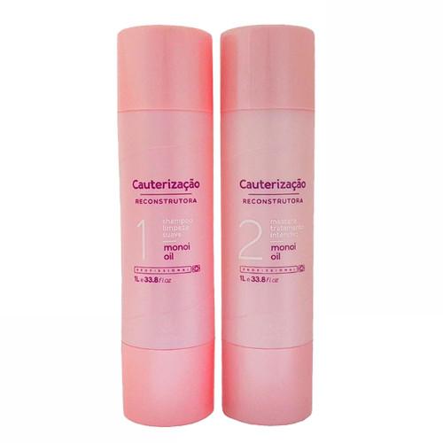 Madamelis Cauterization Treatment Kit for Damaged Hair 2x1L/2x33.8fl.oz