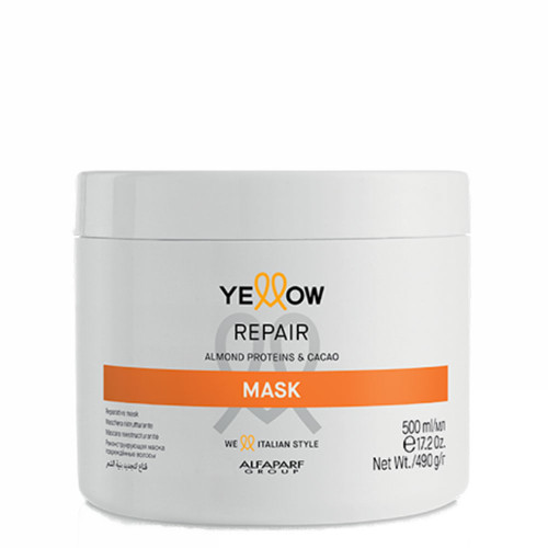 Alfaparf Yellow Repair Mask With Almond Proteins & Cacao 500ml/16.9fl.oz