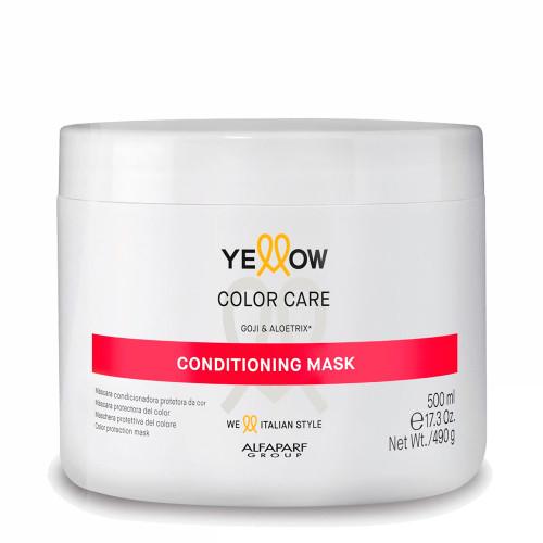 Alfaparf Yellow Color Care Conditioning Mask Protetor da Cor Goji e Aloetrix 500ml/17.3fl.oz
