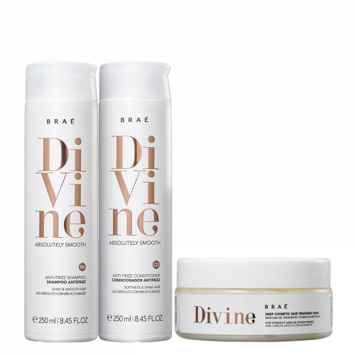 Braé Divine Absolutely Smooth Shampoo, Conditioner and Mask Kit