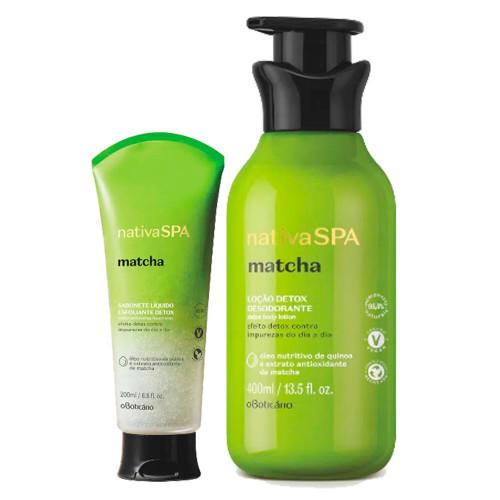 O Boticário Kit Nativa SPA Matcha Body Deodorant Moisturizing Lotion & Liquid Soap