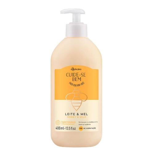O Boticário Cuide-se Bem Body Deodorant Moisturizing Lotion Leite & Mel 400ml/14.1oz