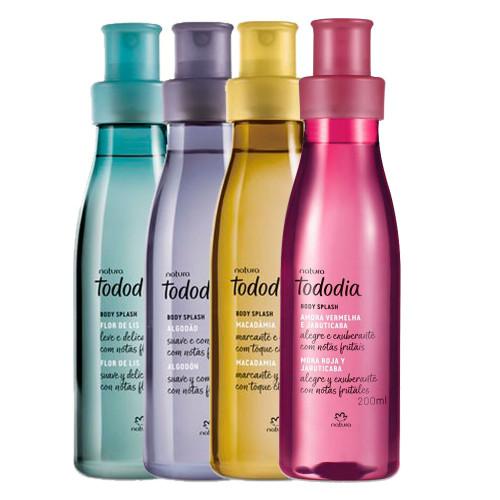 Natura TodoDia Kit Deodorant Body Splash Amora Vermelha & Jabuticaba, Macadâmia, Flor de Lis e Algodão