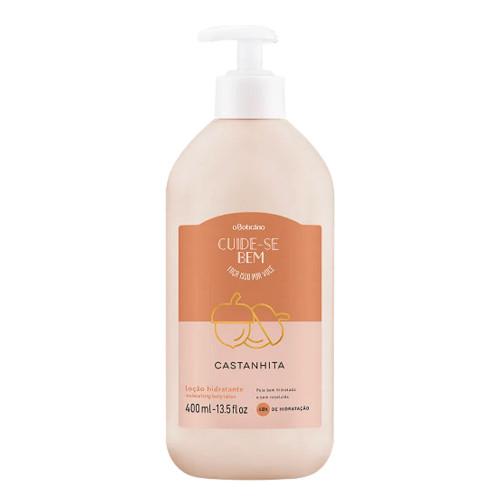 O Boticário Cuide-se Bem Body Deodorant Moisturizing Lotion Castanhita 400ml/14.1oz
