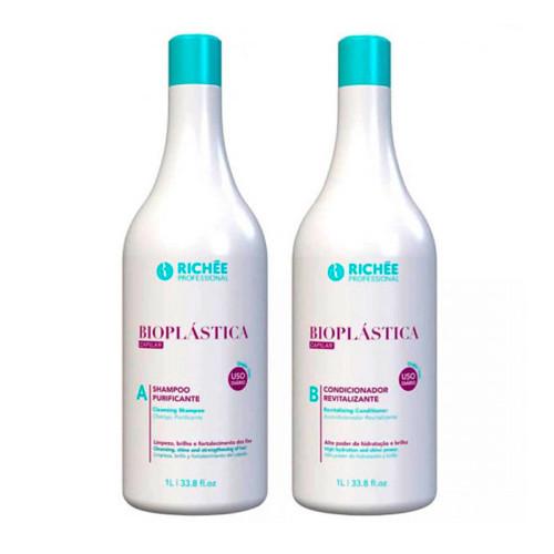 Richée Bioplástica Kit Duo Shampoo and Conditioner 2x1L/ 33, 81fl.oz