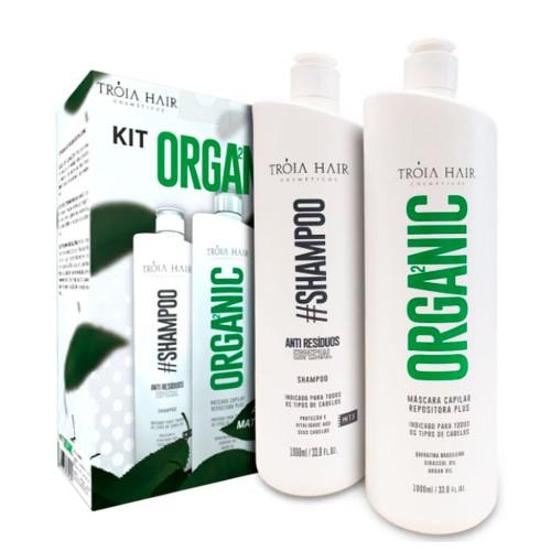 Kit Tróia Organic Hair Definitive Progressive Without Formaldehyde 1L/ 33, 81fl.oz