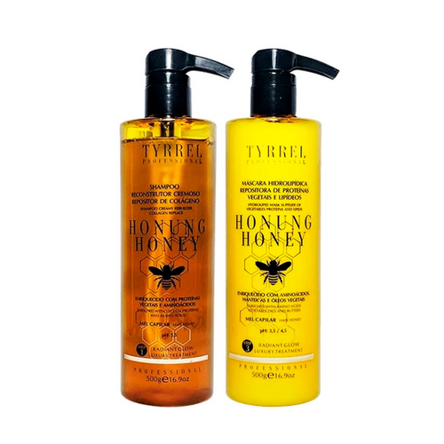 Kit Tyrrel Shampoo Mask Honung Honey Collagen Replenishing Mel Capilar Hair Care 2x500ml/2x16.9fl.oz
