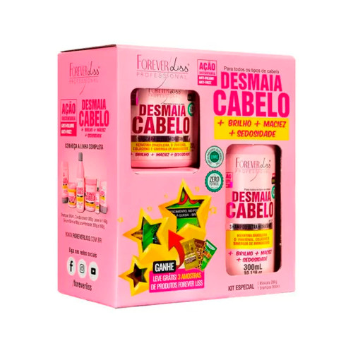Kit Forever Liss Shampoo Mask Desmaia Cabelo Special Complete Hydration Hair Care 2 Units