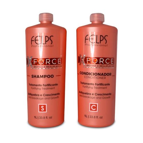 Kit Felps X-force Biotin Treatment Shampoo and Conditioner Fortifying Treatment 2x1L/2x33.8 fl.oz
