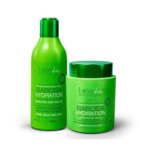 Kit Forever Liss Babosa Shampoo Hydration Restoration 300ml/10.14 fl.oz + Mask 250g/6.76 fl.oz