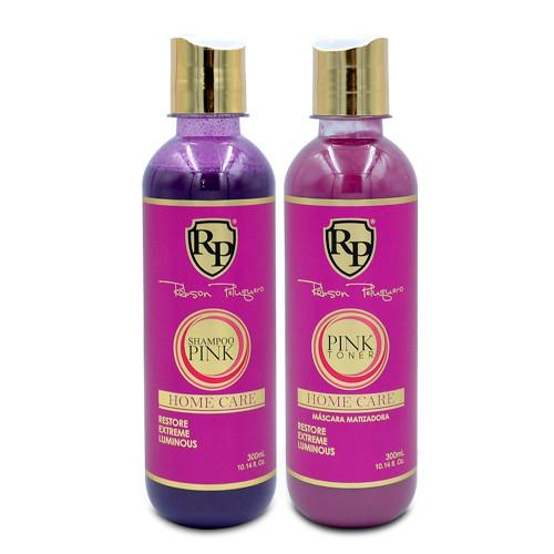 Kit Robson Peluquero Pink Home Care Shampoo Pink Home Care Mask Rp 2x300ml/2x10.1 fl.oz