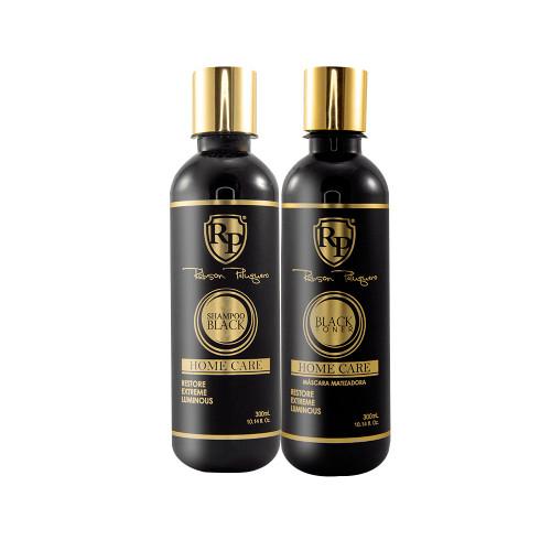 Kit Robson Peluquero Shampoo Black Mask Matizer Silver Home care 2x300ml/2x10.14 fl.oz