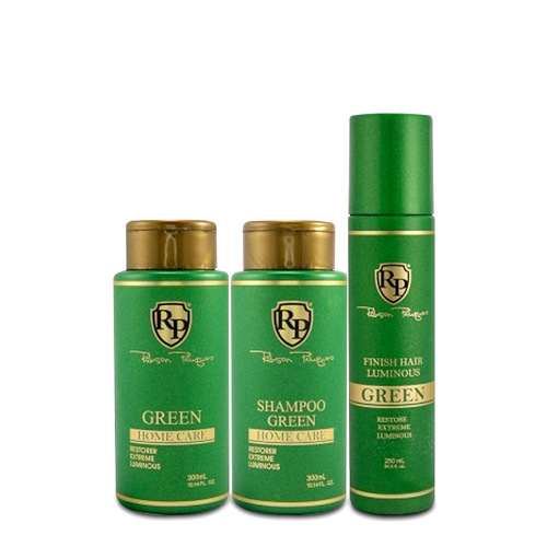 Kit Robson Peluquero Shampoo Green Home Care Matizer 2x300ml/2x10.14 fl.oz + Finish Finish Hair Luminous 250ml/8.45 fl.oz
