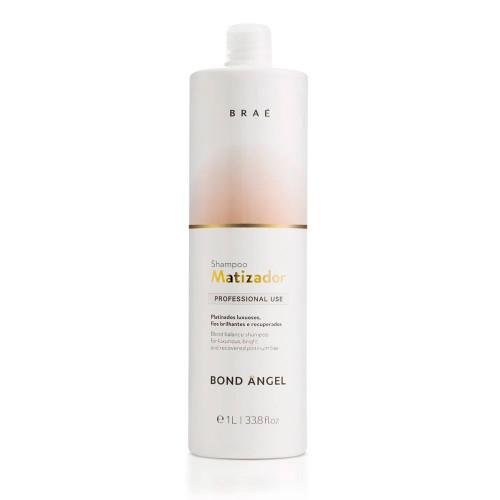 Braé Bond Angel Shampoo Professional Use Platinum Shampoo for Shiny, Recovered Hair 1L/33.8 fl.oz