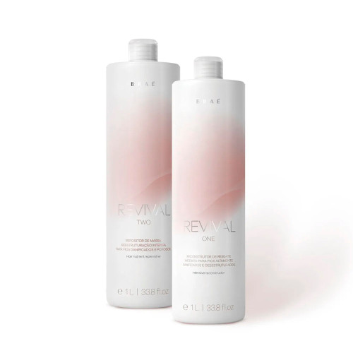 Braé Revival One and Two Professional Restoring Kit Damaged and Porous Hair 2x1L/2x35.27 fl.oz