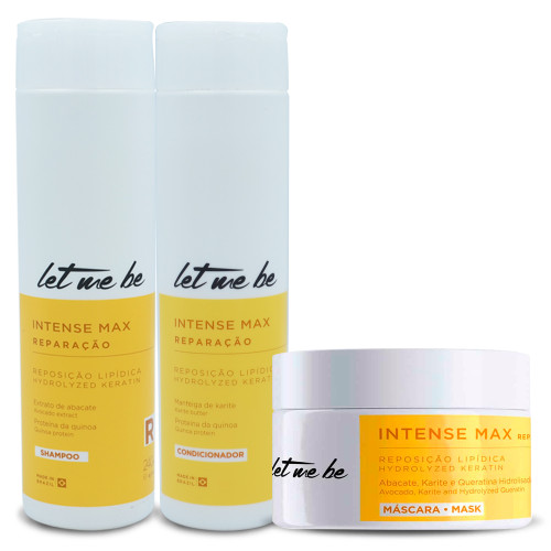 Kit Let Me Be Shampoo Conditioner Mask Intense Max Complete Repair Lipid Replenishment 3 Units