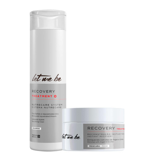 Kit Let Me Be Shampoo Mask Recovery Treatment Smoothing Clean Instant Recovery Hair Care