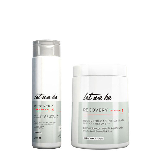 Kit Let Me Be Shampoo Mask Recovery Treatment Salon Instant Recovery Hair Care