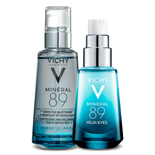Kit Vichy Minéral 89 Eyes and Face Moisturizing Serum Olhos Face 2 Products