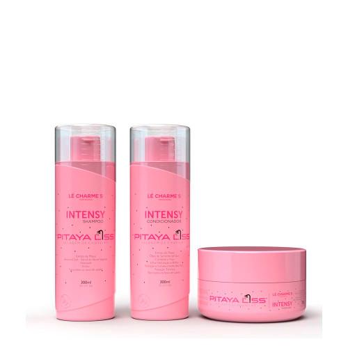Kit Lé Charmes Professional Pitaya Liss Intensy Shampoo Conditioner 2x300ml/2x10.14 fl.oz and Mask 300g/10.14 oz