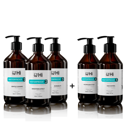 Hi Hare Care Shampoo + Soothing + Smooth Touch Waterprof Kit 3x500ml/3x16.90 fl.oz Hare Care 2x230ml/2x8.11 oz