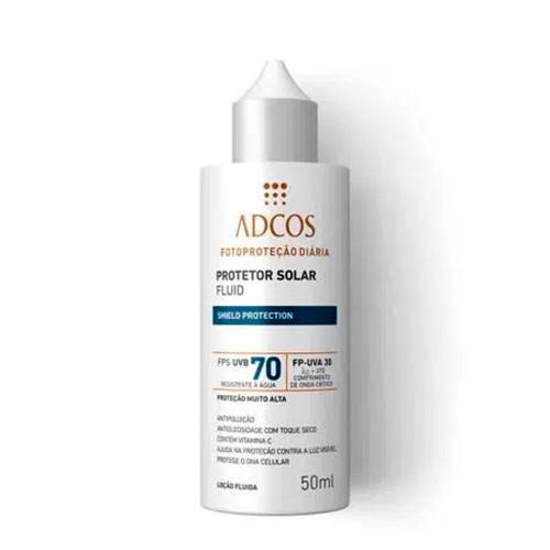 Adcos Sunscreen Fluid Shield Protection SPF 70 Vitamin C Skin Care Anti-Pollution 50ml/1.69 fl.oz