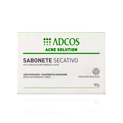 Adcos Acne Solution Drying Soap Acneic or Acne-prone Skin Exfoliating Action 90g/3.04 oz