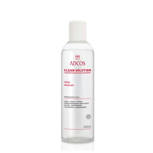 Adcos Clean Solution Micellar Water Daily Skin Care Eliminates Impurities 240ml/8.11 fl.oz