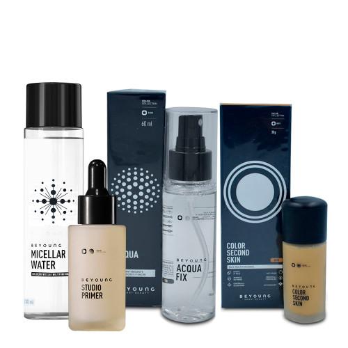 Kit Beyoung Skin Care Acqua Fix Bruma + Micellar Water + Studio Primer + Base Color 40w