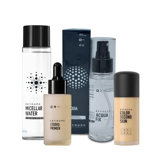 Kit Beyoung Skin Care Acqua Fix Mousse + Micellar Water + Primer + Base Color 20n