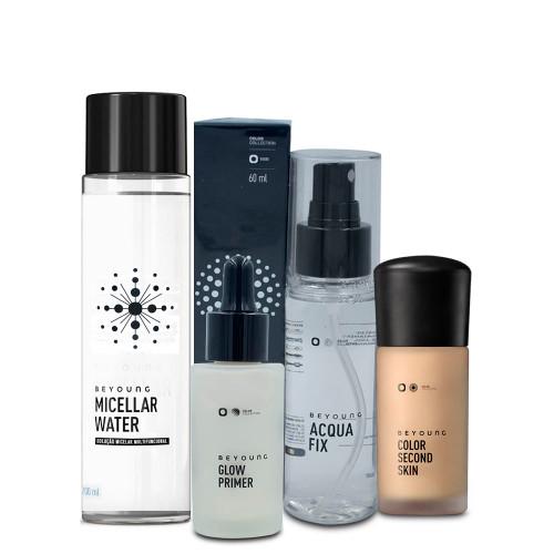 Kit Beyoung Acqua Fix Bruma + Micellar Water + Glow Primer Silver Color + Base Color 30c