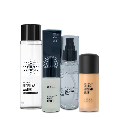 Kit Beyoung Acqua Fix Bruma + Micellar Water + Glow Primer Silver Color + Base Color 20n
