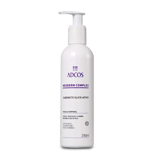 Adcos Glycolic-Active Facial Soap Neoderm Complex Revitalizes Brightens Glycolic Acid 240ml/8.11 fl.oz