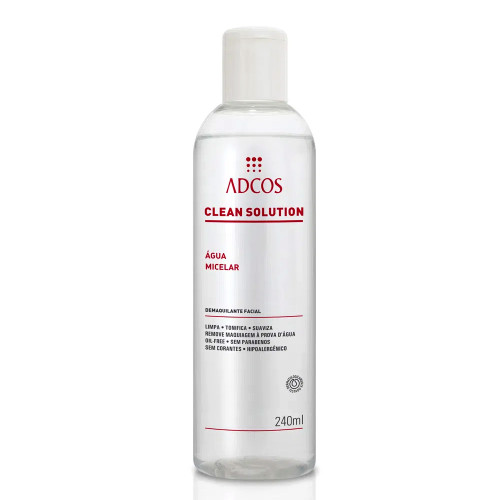 Adcos Clean Solution Skin Care Micellar Water Cleanses, Tones and Protects Skin 240ml/8.11 fl.oz