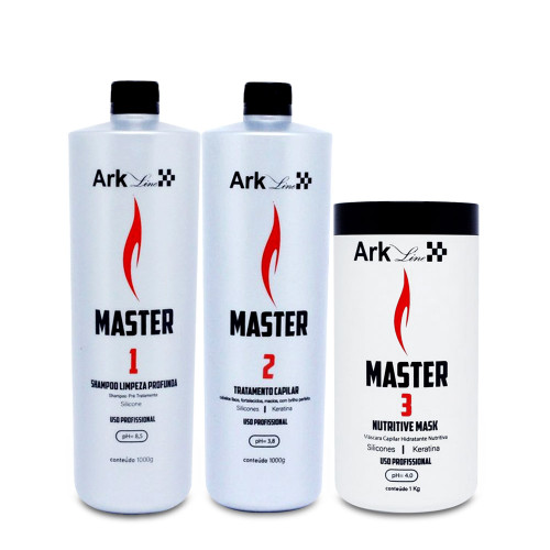 Kit Ark Line Smoothing System Master Shmapoo + Hair Treatment 2x1L/2x35.2 fl.oz and Nutritive Mask 1kg/35.2 fl.oz