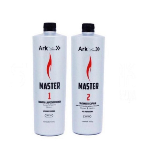 Kit Ark Line Smoothing System Master Shmapoo Deep Cleansing + Hair Treatment 2x1L/2x35.2