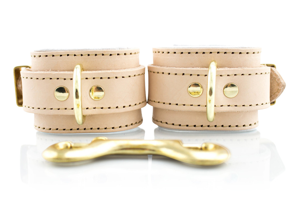 Barcelona Bond Collection Handcrafted Leather Bondage Cuffs (Wrist)