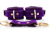 Chelsea Bond Collection Handcrafted Suede Bondage Cuffs (Wrist)