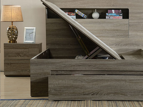 Savannah King Bed With Gas Lift Storage