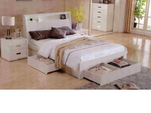 Chicago Double Bed with storage drawers