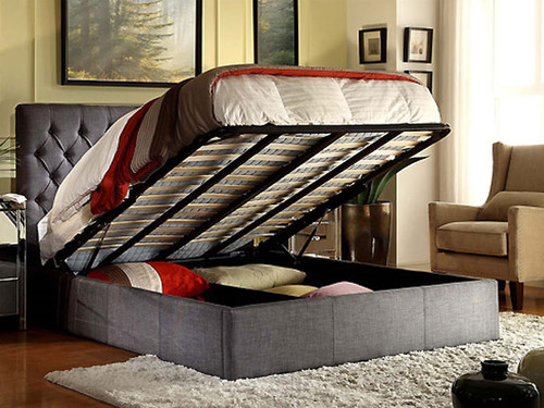 Cameo King Bed with Gas Lift Storage