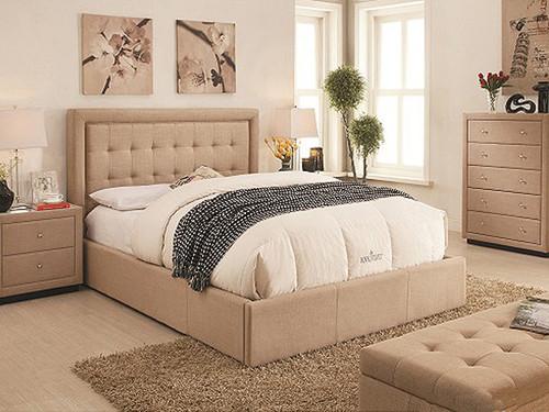 Regent Double Bed in Linen