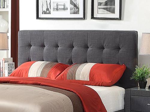 Brooklyn Double Bedhead in Charcoal