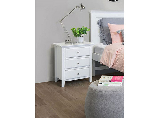 Ballina Bedside Table in White