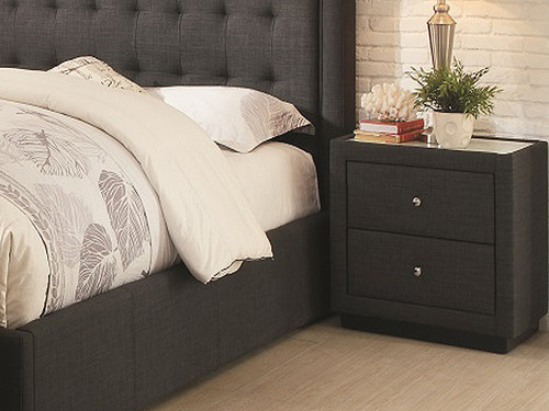 Brooklyn Bedside Chest in Charcoal