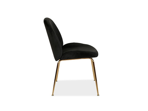 Asta Velvet Dining Chair Black