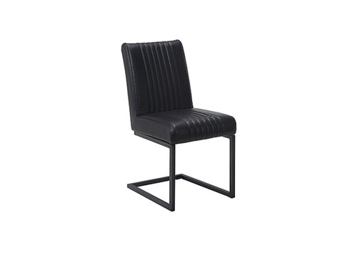 Bram Eco Leather Dining Chair in Black