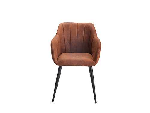 Cato Ultrasuede Fabric Dining Chair in Chamois Copper