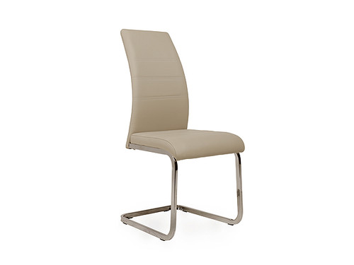 Chara Eco Leather Dining Chair in Cappuccino
